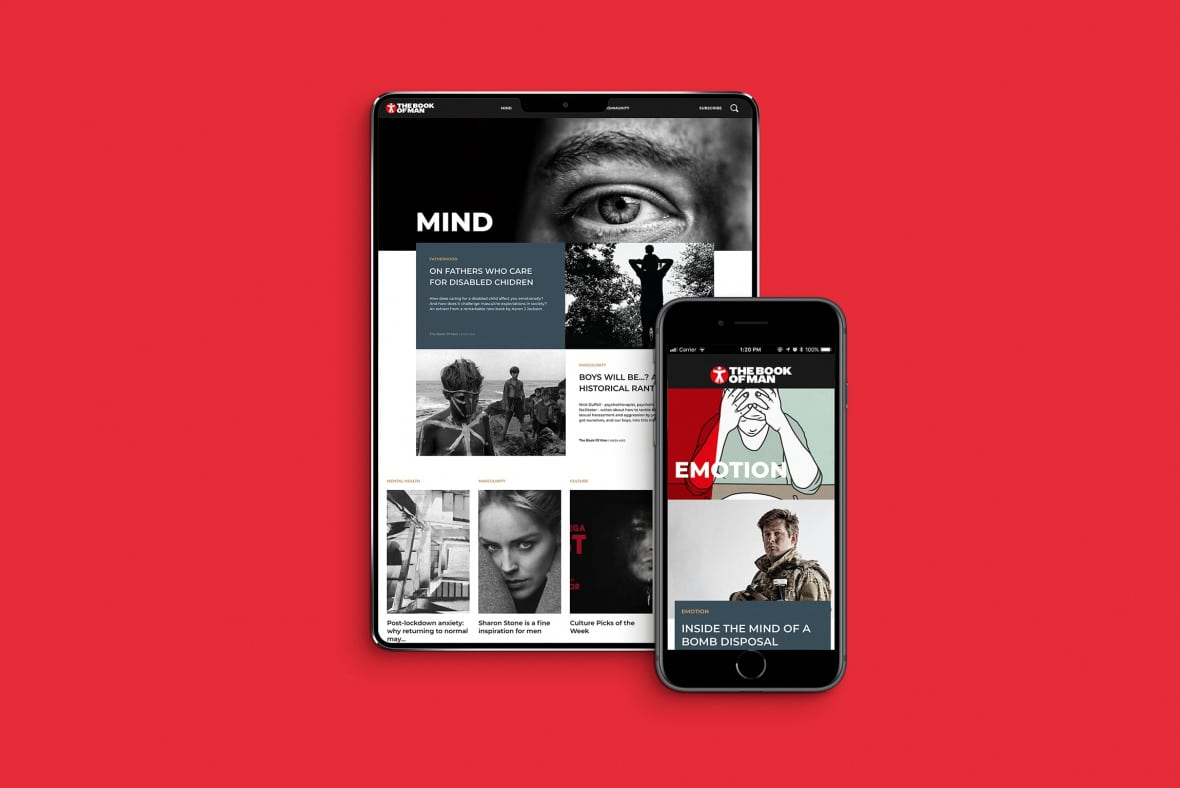 The Book of Man mobile site - Mind