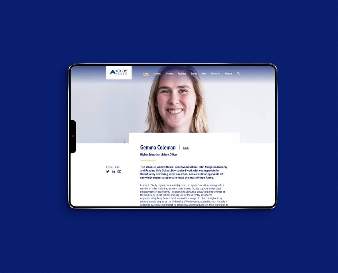 Study Higher mobile site - Gemma Coleman