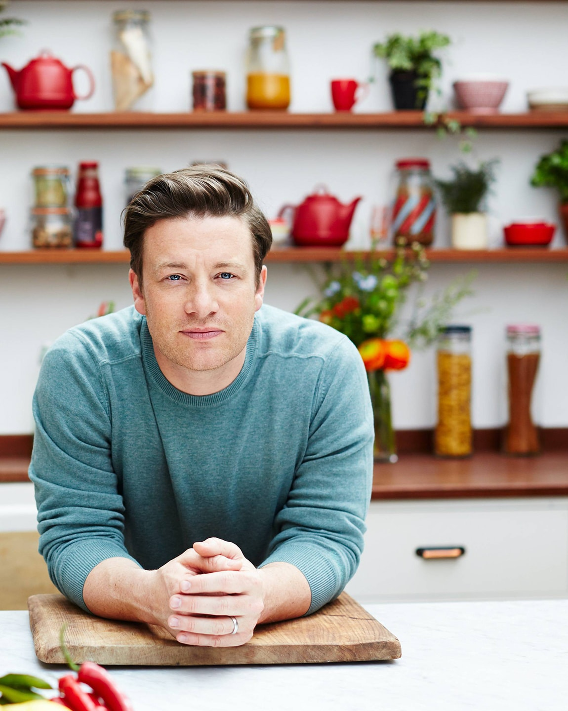 Jamie Oliver in action image
