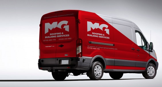 MG Roofing - Branded Vehicle