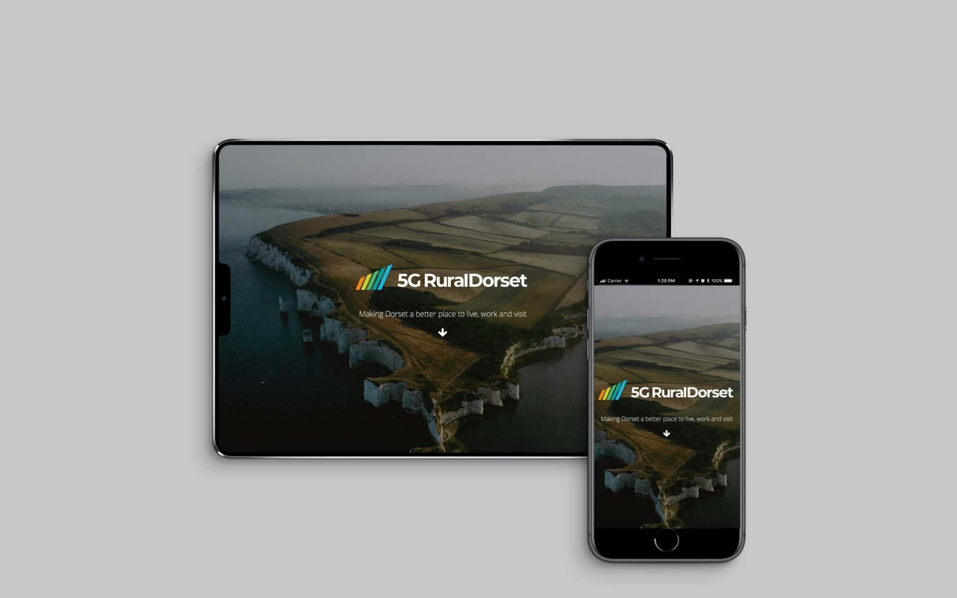 5G Rural Dorset mobile website - Home