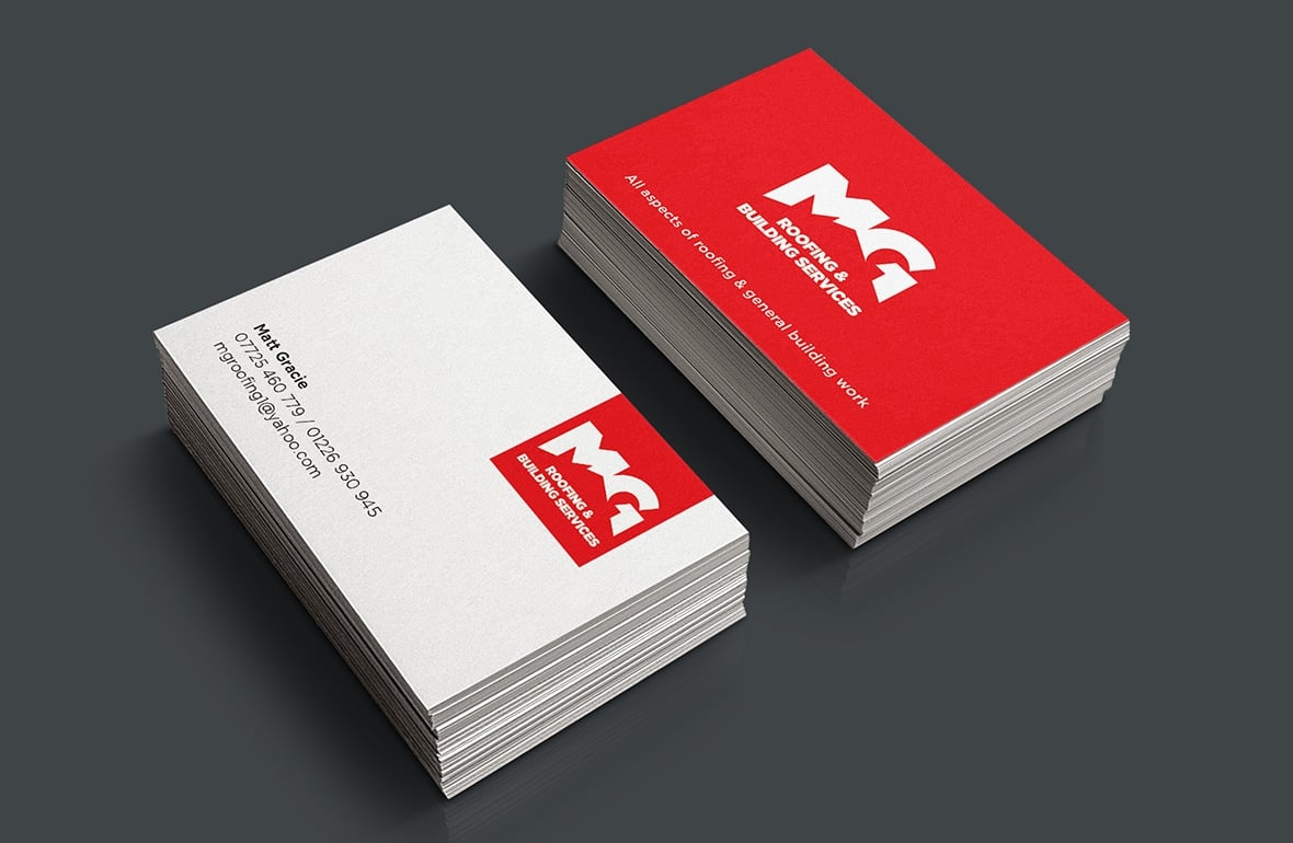 MG Roofing branded stationery development