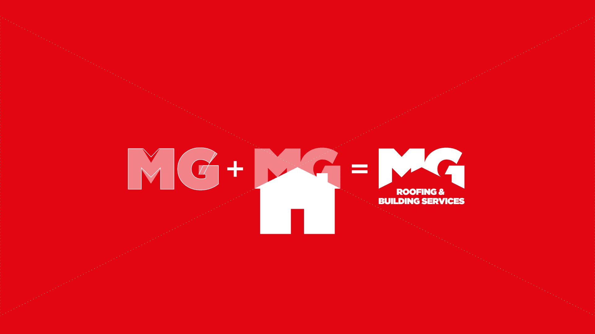 MG Roofing Logo development