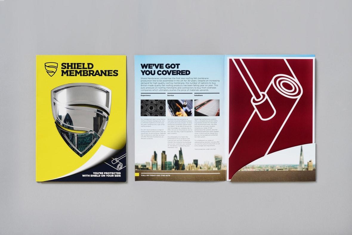 Shield Membranes brochure mockup