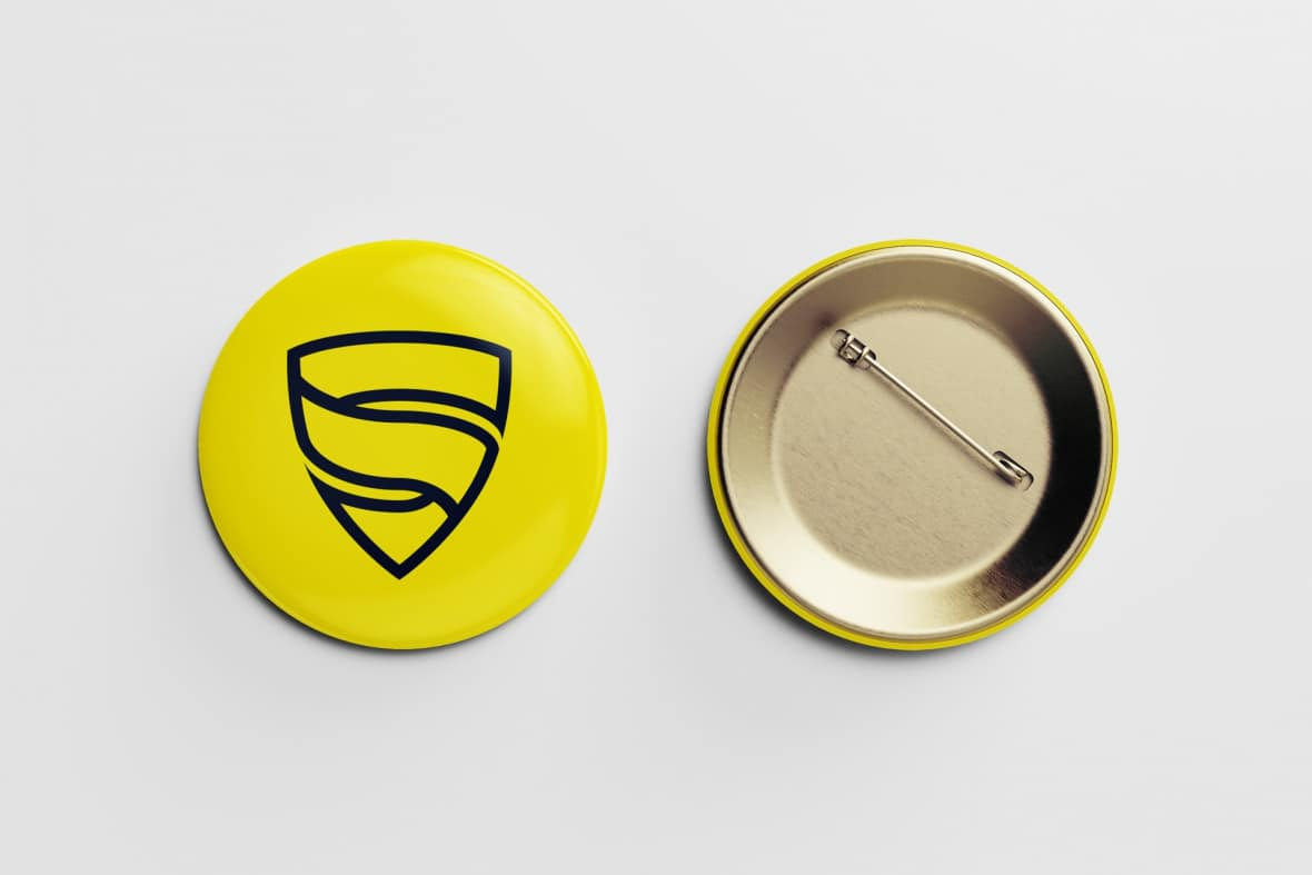 Shield Membranes logo badge mockup