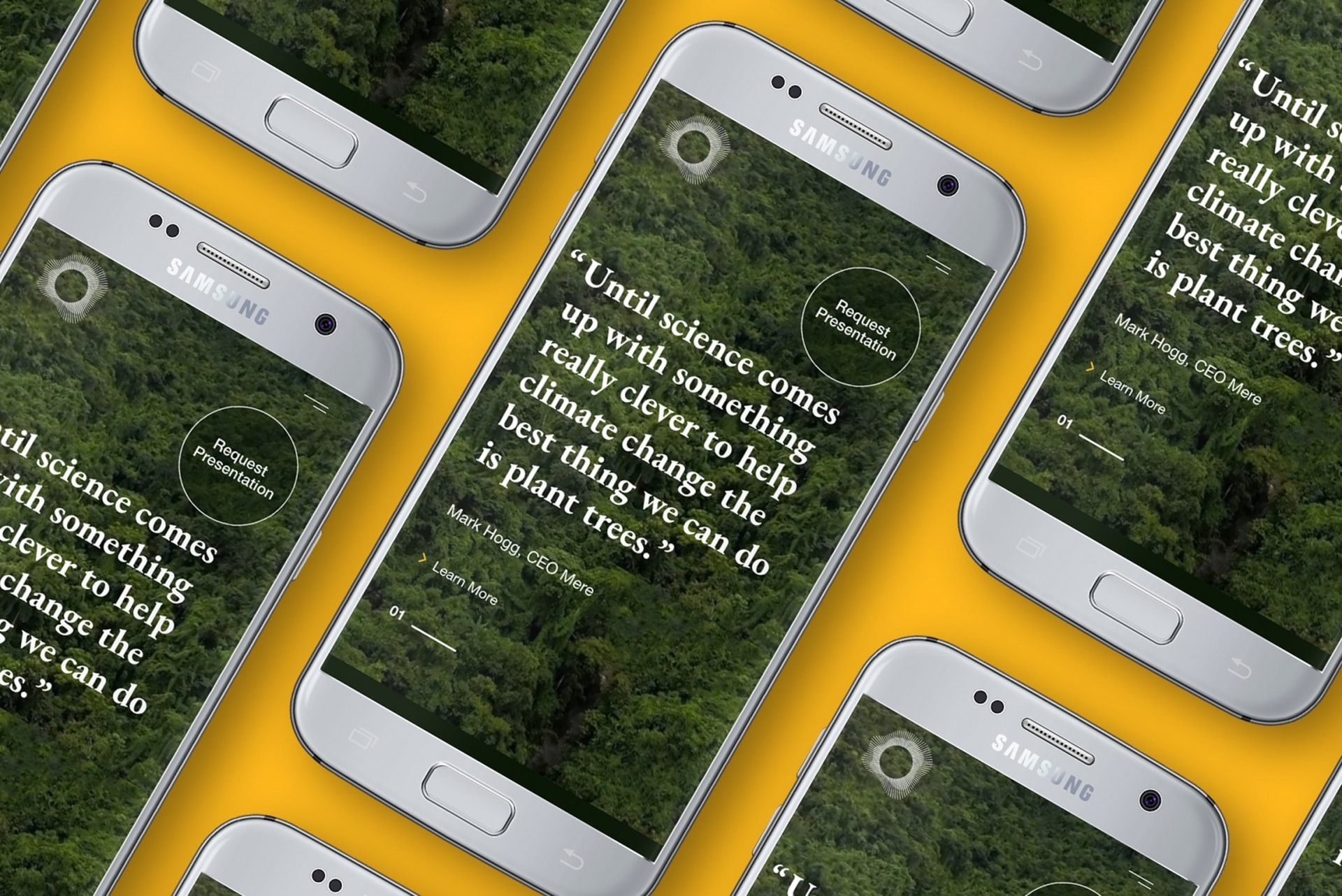 Forest Fund mobile site - Home