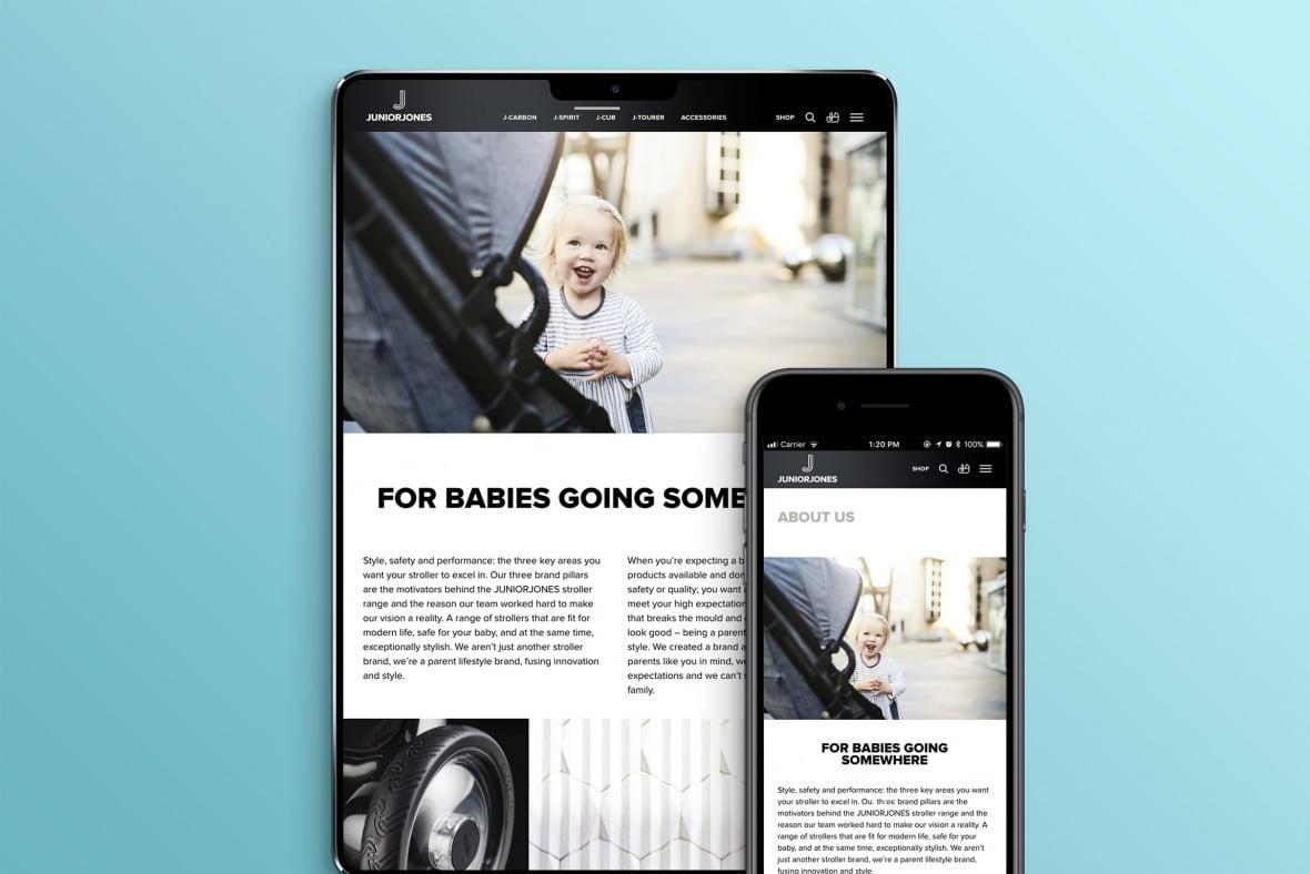 Junior Jones mobile site - About Us