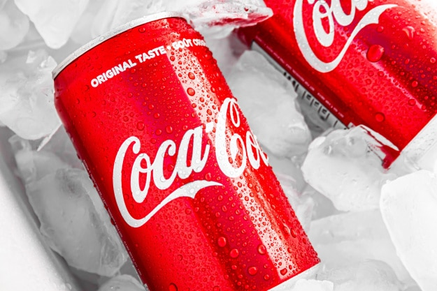 Coca Cola cans used for brand article